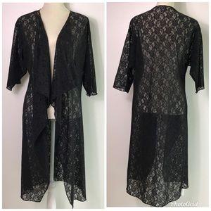 LuLaRoe Shirley Lace Kimono Cardigan Duster -A19